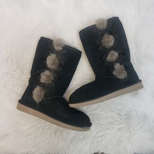 "Koolaburra by Ugg Victoria 8"" tall Black Boots"
